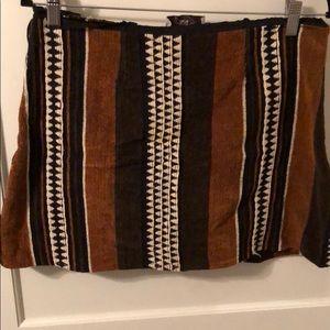 Judith March Brown Pattern Skirt